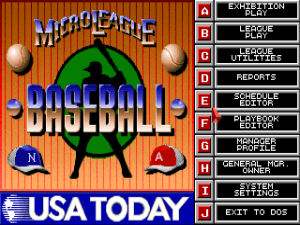 MicroLeague Baseball IV 2