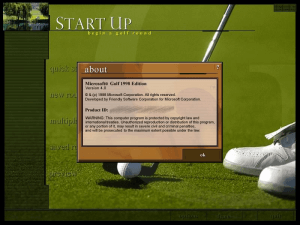 Microsoft Golf 1998 Edition 0
