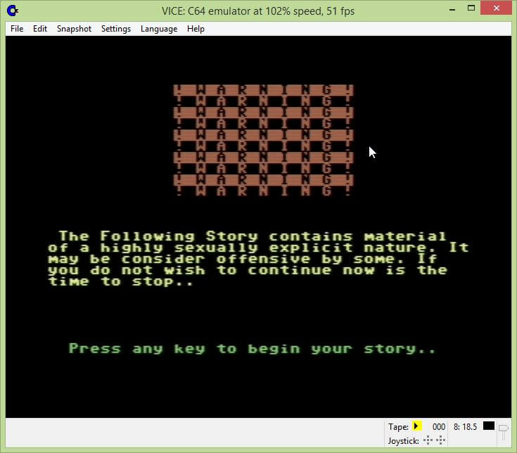 Naughty Tales Commodore 64