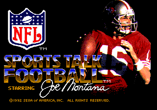 NFL Sports Talk Football '93 Starring Joe Montana 0