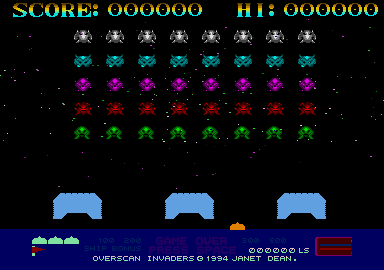 Overscan Invaders 3
