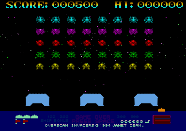 Overscan Invaders 6