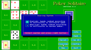Poker Solitaire abandonware