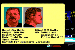 Police Quest 2: The Vengeance 1