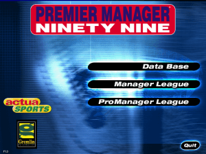 Premier Manager Ninety Nine 0