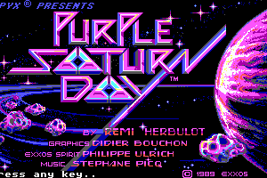 Purple Saturn Day 0