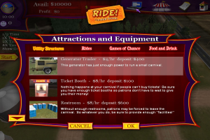 Ride! Carnival Tycoon abandonware