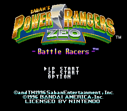 Saban's Power Rangers Zeo: Battle Racers 0