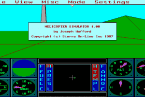 Sierra's 3-D Helicopter Simulator 1