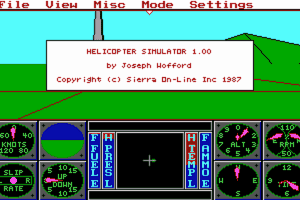 Sierra's 3-D Helicopter Simulator 8