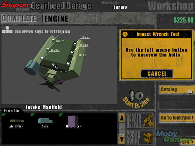 Gearhead garage download (2000 simulation game).