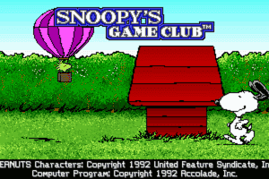 Snoopy's Game Club 0