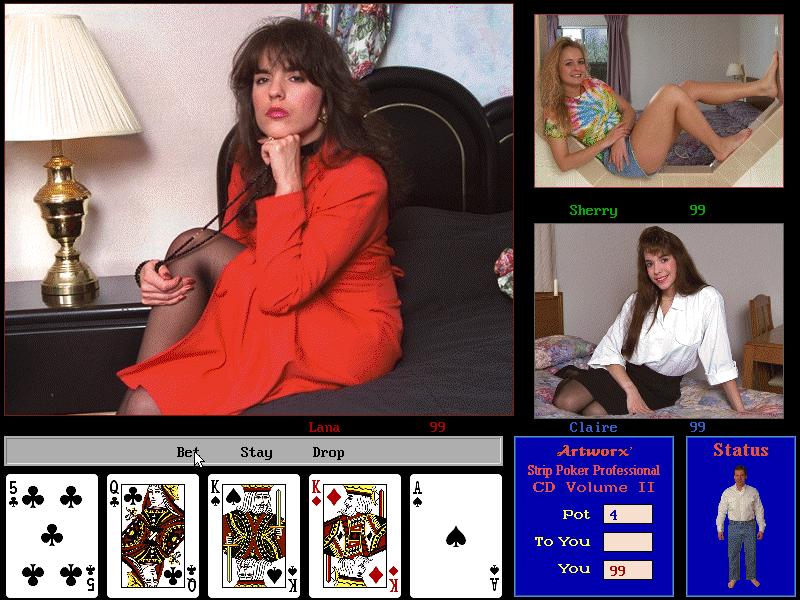 texas holdem strip poker online