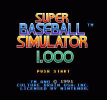 Super Baseball Simulator 1.000 0