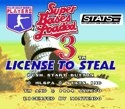 Super Bases Loaded 3: License to Steal 0