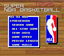 Tecmo Super NBA Basketball 4