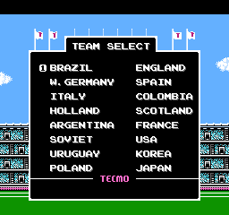 Tecmo World Cup Soccer 1