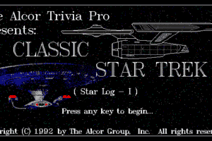 The Alcor Trivia Pro Presents: Classic Star Trek (Star Log - I) 0