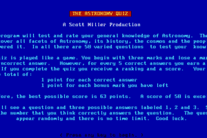 The Astronomy Quiz abandonware