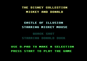 The Disney Collection: Quackshot Starring Donald Duck & Castle of Illusion Starring Mickey Mouse abandonware