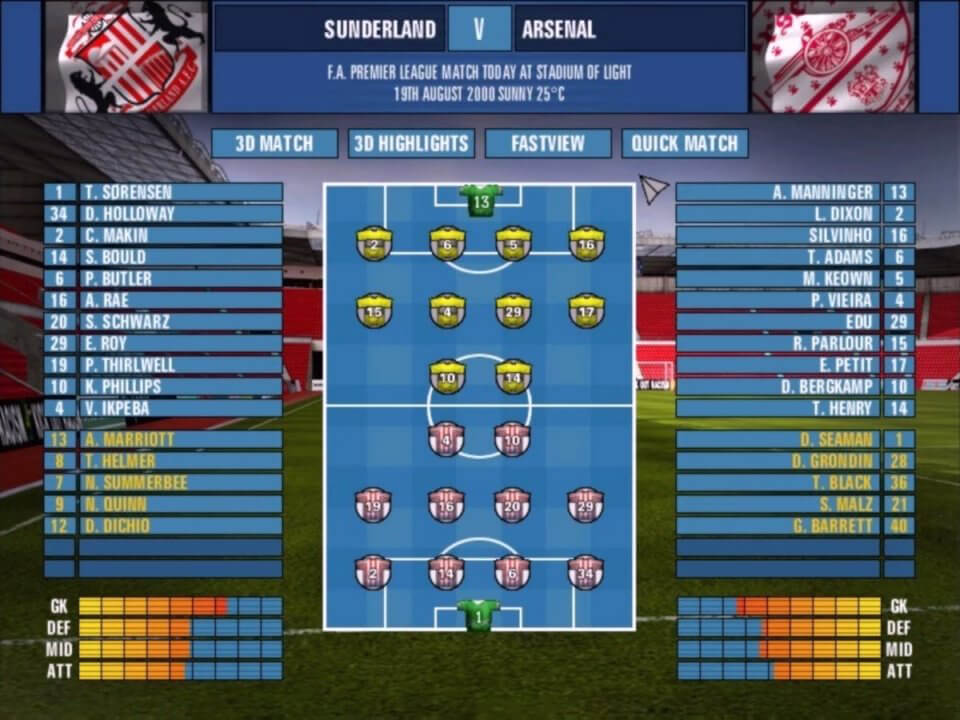 Download The F A Premier League Football Manager 2001