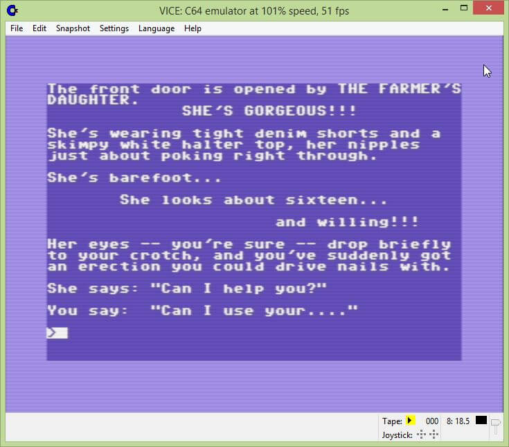 The Farmer's Daughter Commodore 64