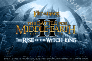 The Lord of the Rings: The Battle for Middle-earth II - The Rise of the Witch-king 0