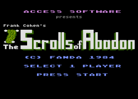 The Scrolls of Abadon 0