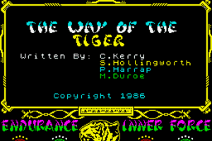 The Way of the Tiger 0
