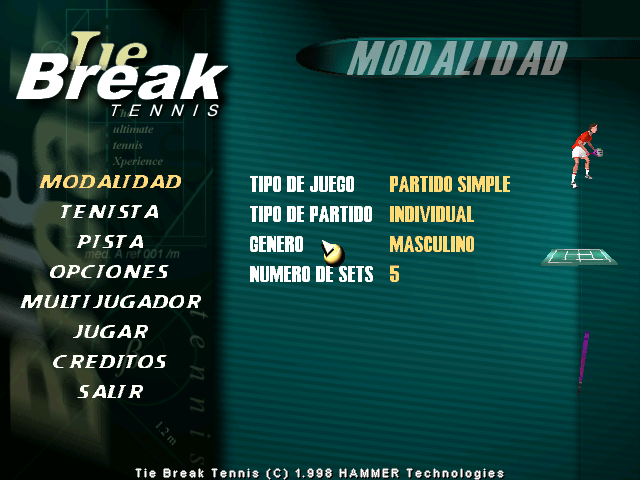 Tie Break Tenis 98' 1