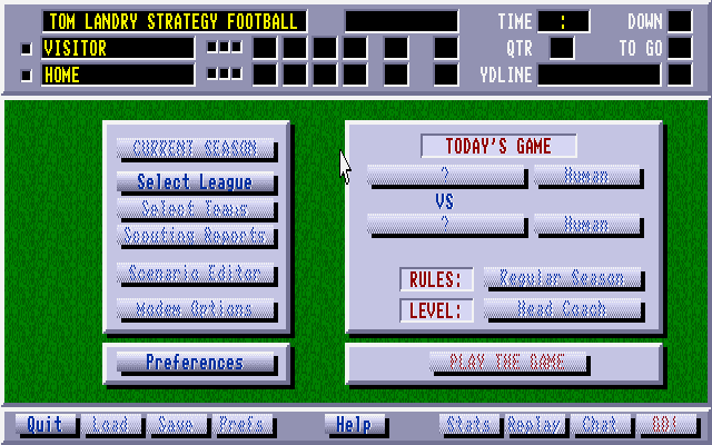 Tom Landry Strategy Football 1