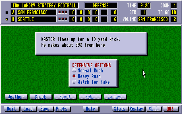 Tom Landry Strategy Football Deluxe Edition 13