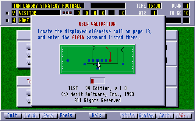 Tom Landry Strategy Football Deluxe Edition 1