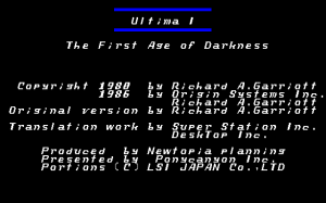 Ultima I: The First Age of Darkness 0