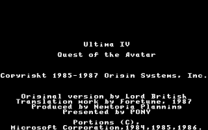 Ultima IV: Quest of the Avatar 0