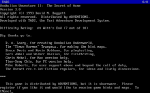 Unnkulian Unventure II: The Secret of Acme 1