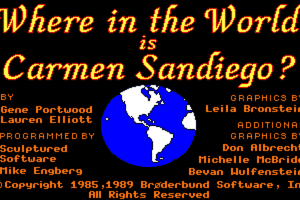 Where in the World is Carmen Sandiego? 0