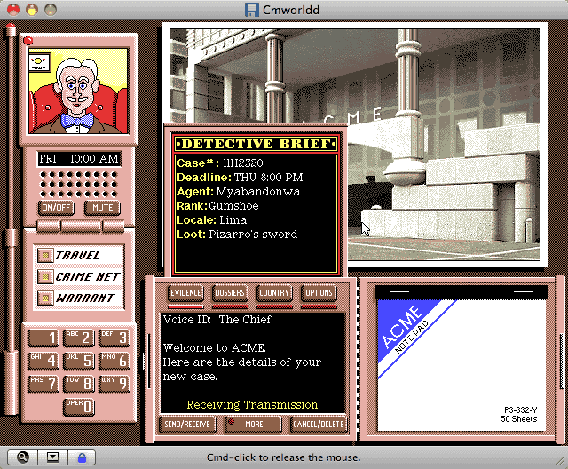 Carmen sandiego's great chase through time (1999)   a:\> game.