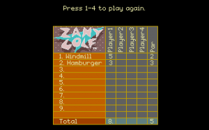 Will Harvey's Zany Golf abandonware