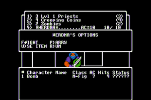 Wizardry: The Return of Werdna - The Fourth Scenario abandonware