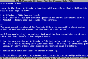 Wolfenstein 3D Super Upgrades abandonware