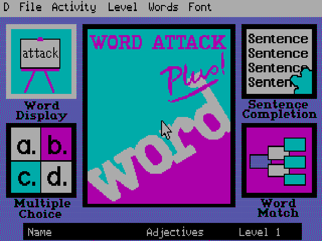 Download Word Attack Plus! - My Abandonware