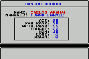 World Championship Boxing Manager abandonware