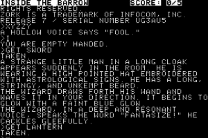 Zork II: The Wizard of Frobozz 1