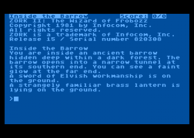 Zork II: The Wizard of Frobozz 0