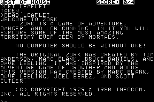 Zork: The Great Underground Empire 1